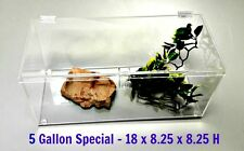5 Gallon Special- Terrestrial Cage With Hinged Top -Tarantula,Reptiles,Snake s