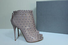 New sz 9 / 39 Alexander McQueen Blush Leather Ankle Caged Boot Sandal Pump Shoes