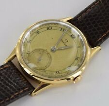 Omega Brown Leather Strap Men's Vintage Watch