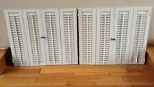 "26"" T x 30"" W VTG Colonial Wood Interior Louver Plantation Window Shutters"