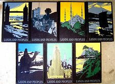 LOT 7 (Complete) LANDS and PEOPLES The World in Color Vintage Deco Bindings 1957