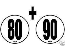 lot 2 Limitations de Vitesse Autocars Tracteur Poids lourd 80+90 KM/H adhésif