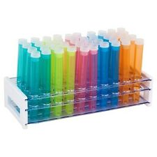 """50-Hole Test Tube Rack with 50 Colored 5"""" Test Tube Shot Glass and Caps"""