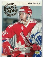 """1992-93 Upper Deck """"World Juniors"""" # 589 Mike Rathje Rookie RC """"10 card lot"""
