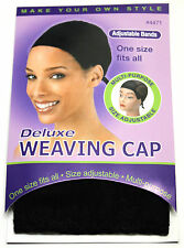 ANNIE DELUXE WEAVING CAP HAIR EXTENSION ADJUSTABLE BANDS BLACK (#4471)