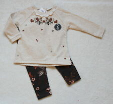***BNWT Next baby girl Autumn theme sweat tunic and leggings set 0-3 months***