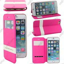 "Accessoire Housse Coque Etui S-View Flip Cover Rose Apple iPhone 6S 4,7"" +Film"