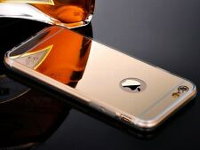 FUNDA PARA IPHONE 5S 5 GEL TPU DORADA GOLD ESPEJO SILICONA CASE COVER