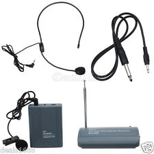 SH-600 Professional Transmitter Wireless Headset Microphone Clip On Mic Receiver