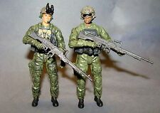 1:18 BBI Elite Force U.S Modern Ranger Machine Gunner Figure Soldier Lot of 2