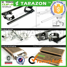 Tarazon SILVER Easyfit 41mm clip on handlebars. Silver, billet aluminium alloy .
