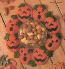 SCARY JACKS PUMPKINS HALLOWEEN PLASTIC CANVAS PATTERN INSTRUCTIONS