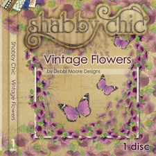 Debbi Moore Designs Shabby Chic Vintage Flowers CD Rom (290915)