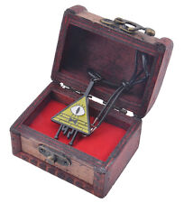 Anime Gravity Falls Bill Cipher Necklace With Woodbox