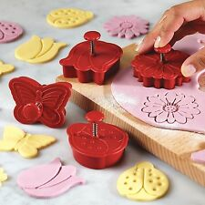 Cake Boss Cutters Spring, Set of 4 Plunger cutters Fondant icing cookie biscuit