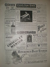 Vigor's home rowing machine 1897 old advert ref L