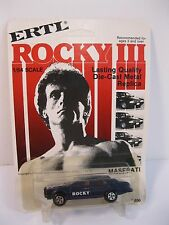 ERTL 1980 MASERATI ROCKY III 1982 DIECAST MINT ON UNPUNCHED CARD STALLONE