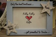 Personalised Photo Frame by Filly Folly! Uncle Auntie Birth Of New Baby Gift!