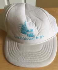 Chrysler Plymouth Americas Way To Go White Vintage Trucker Hat
