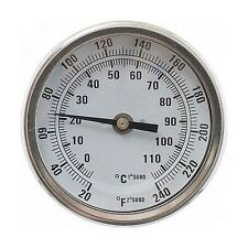 "1/2"" NPT Dial Thermometer (3"" Face x 6"" Probe) Monitor Brew Mash Temperature"