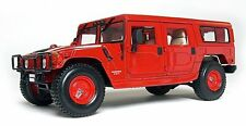 Hummer H1 Wagon Red 1:18 Diecast Model Car By Maisto Premiere 36858 - New