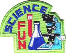 """SCIENCE FUN"" - LEARNING -SCHOOL - CHEMISTRY - IRON ON EMBROIDERED PATCH"