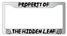 Chrome License Plate Frame Property Of The Hidden leaf Accessory Naruto