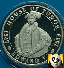 2003 TURKS AND CAICOS 20 Crowns House of Tudor Edward VI Silver Proof Coin