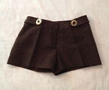 Beautiful Milly New York Brown Jacquard Shorts, Size 6, NWT