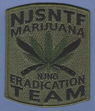 DEA NEW JERSEY STATE NARCOTICS TASK FORCE ERADICATION TEAM POLICE PATCH