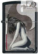 Zippo 1721 woman and sword black Lighter with PIPE INSERT PL