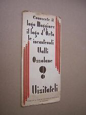 circa 1930s. VALLI OSSOLANE (ITALY) TRAVEL HOLIDAY BROCHURE. ADVERTISING