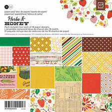 "New Basic Grey  6"" x 6"" Paper Pad Herbs and Honey"