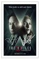 DAVID DUCHOVNY & GILLIAN ANDERSON THE X-FILES 2016 SIGNED PHOTO PRINT AUTOGRAPH