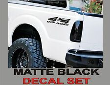 4x4 Truck Bed Decals, MATTE BLACK (Set) for Ford Super Duty, F-250 etc.