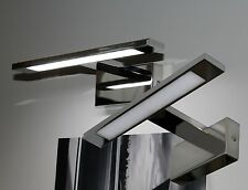 LED Wandleuchte Spiegelleuchte Aufbauleuchte Chrom 4000K Schranklicht Mod.LOOK-1