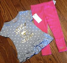 JUICY COUTURE TODDLERS/KIDS GIRLS BRAND NEW 2Pc DRESS LEGGING SET Sz 4T, NWT