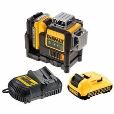 Dewalt DCE089D2G Green 360° Self Levelling Cross Line Laser Level 2 X BATTERIES