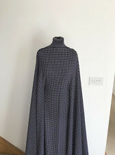Navy/White Retro Mini Polka Dot  Light Weight Stretch Crepe Dressmaking Fabric