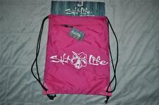 Salt Life Hibiscus Cinch Back Pak Sack Pack Beach Bag Pink SB917-PNK NWT