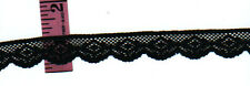 3/4 inch wide BLACK lace trim  35yds  (D593)
