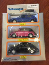 Welly Volkswagen Golf Kafer Beetle Convertible Pink Black Blue New