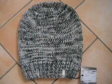 (M31) Grobstrick Mütze FREAKY HEADS Beanie Wintermütze Melange mit Logo Aufnäher