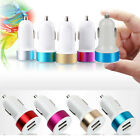 Colorful Car Charger Adaptor Bullet Dual USB 2-Port for iPad iPhone 4 5S Samsung