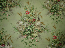 """SCALAMANDRE CURTAIN FABRIC DESIGN """"Edwin's Covey"""" 3.4 METRES MULTI ON WILLOW"""