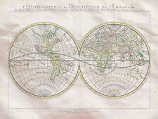 Map World Double Hemisphere Mappe Monde Hydrographie Sa
