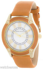 Anne Klein Women's White Dial Leather Strap Watch AK/1782MPHY