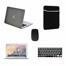 """5 IN 1 Macbook Air 13"""" Rubberized Gray Case + Keyboard Cover + LCD + Bag +Mouse"""