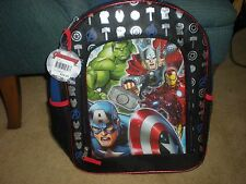 Marvel Avengers 16' Inch Boys School Backpack Bag Hulk Iron Man Bags Kids New