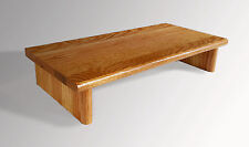 L@@K Monitor Stand OAK Golden Pecan 18 x 11.25 x 4.88 TV Wood Riser Shelf NEW